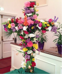 Floral Easter cross