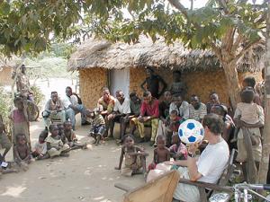 Soccer balls in Congo