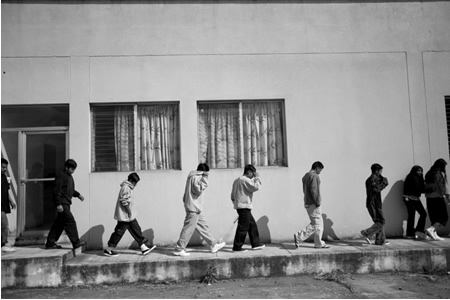 Boys between the ages of 10 and 17 are deported back to Guatemala City, Guatemala, by U.S. Immigration and Customs Enforcement, in 2007