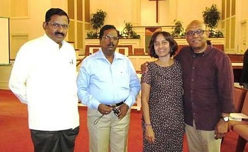 Dr. AJ Samuel, Ramesh Kumar, Sarah and Dan Chetti