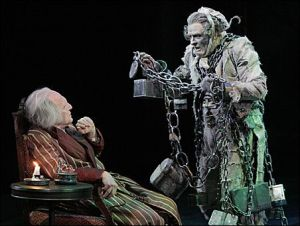 Jacob Marley in chains