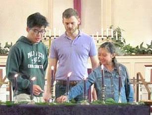 Pastor Greg with children