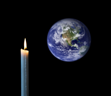 candle and globe
