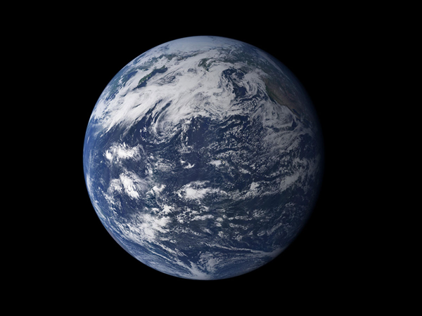 Watery Earth NASA photo