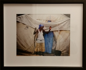 woman and tent